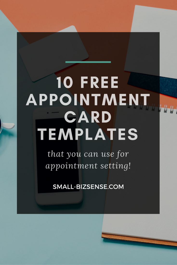 Appointment Spreadsheet Free Regarding Appointment Card Template: 10 Free Resources For Small Business