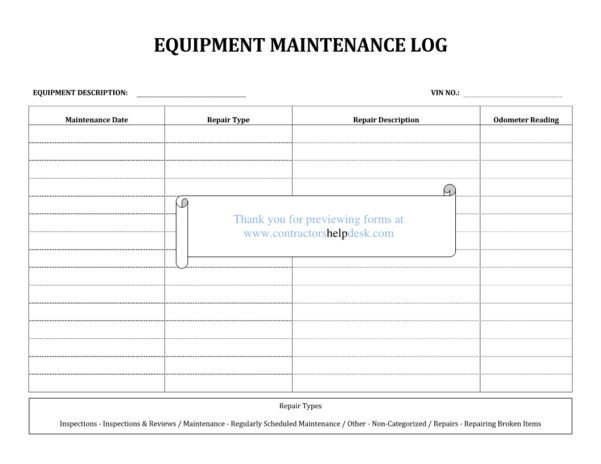 Aquarium Maintenance Log Spreadsheet For Maintenance Log Excel – Kataloghotel
