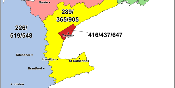 Area Code Spreadsheet With Cna Canadian Area Code Maps