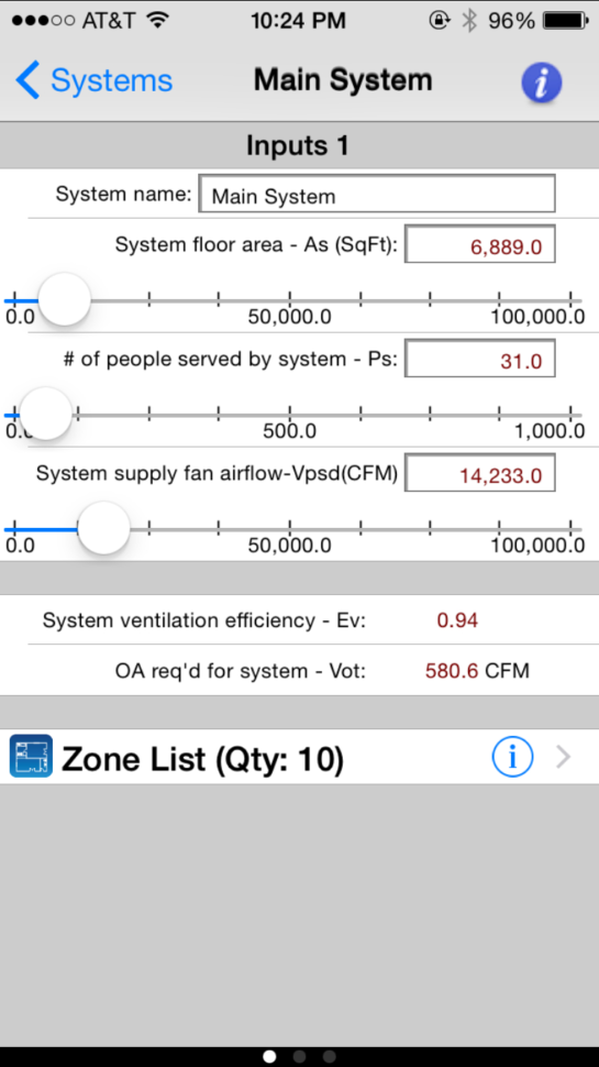 Ashrae 62.1 2013 Ventilation Calculator Spreadsheet In Carmel Software Corporation  Ashrae Hvac 62.1 Ios App