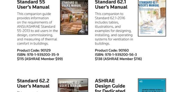Ashrae 62.1 2013 Ventilation Calculator Spreadsheet Pertaining To Ashrae Publications Catalog  Summer 2017