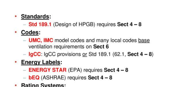 Ashrae 62.1 2013 Ventilation Calculator Spreadsheet With Ashrae Stsdddddsd Update Standard  Ppt Download