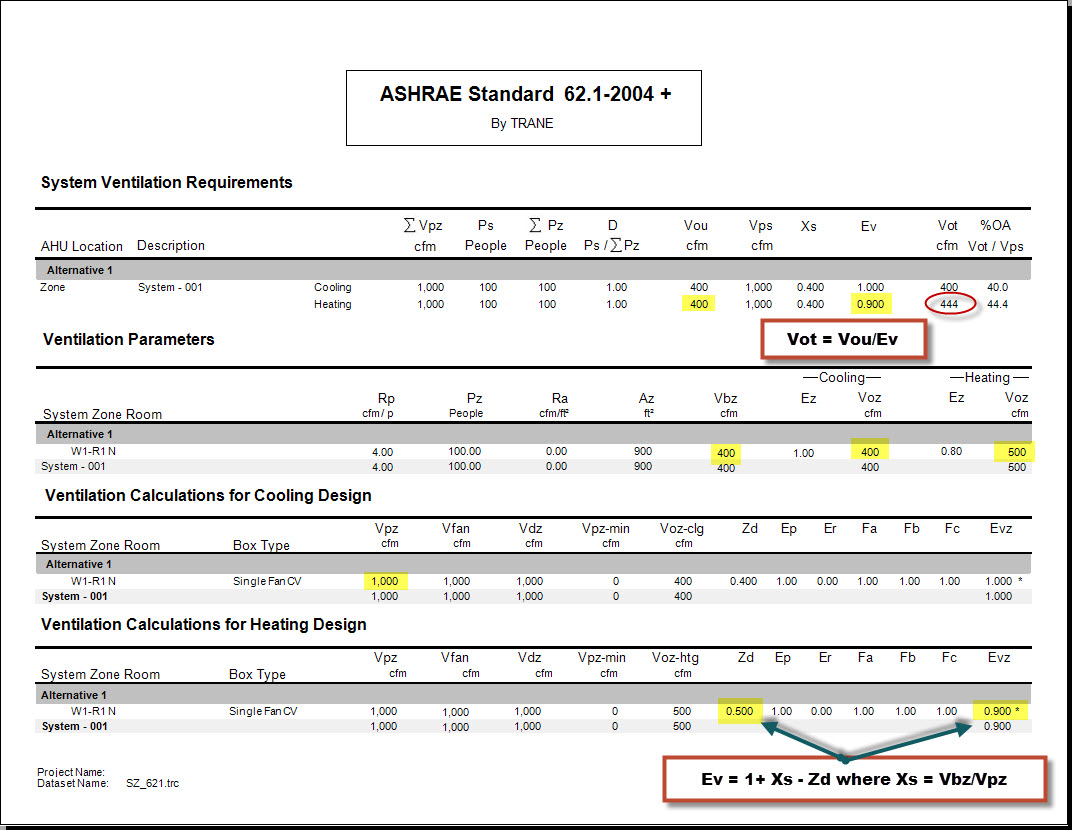 Ashrae 62.1 Ventilation Spreadsheet For How Is 62.1 Ventilation Calculated With Single Zone Systems?