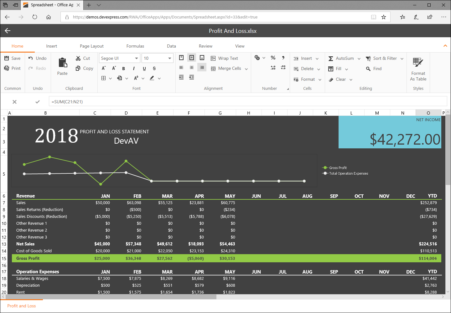 Asp Net Spreadsheet Control Inside Asp Webforms Controls And Ajax Ui Components For Visual Studio And