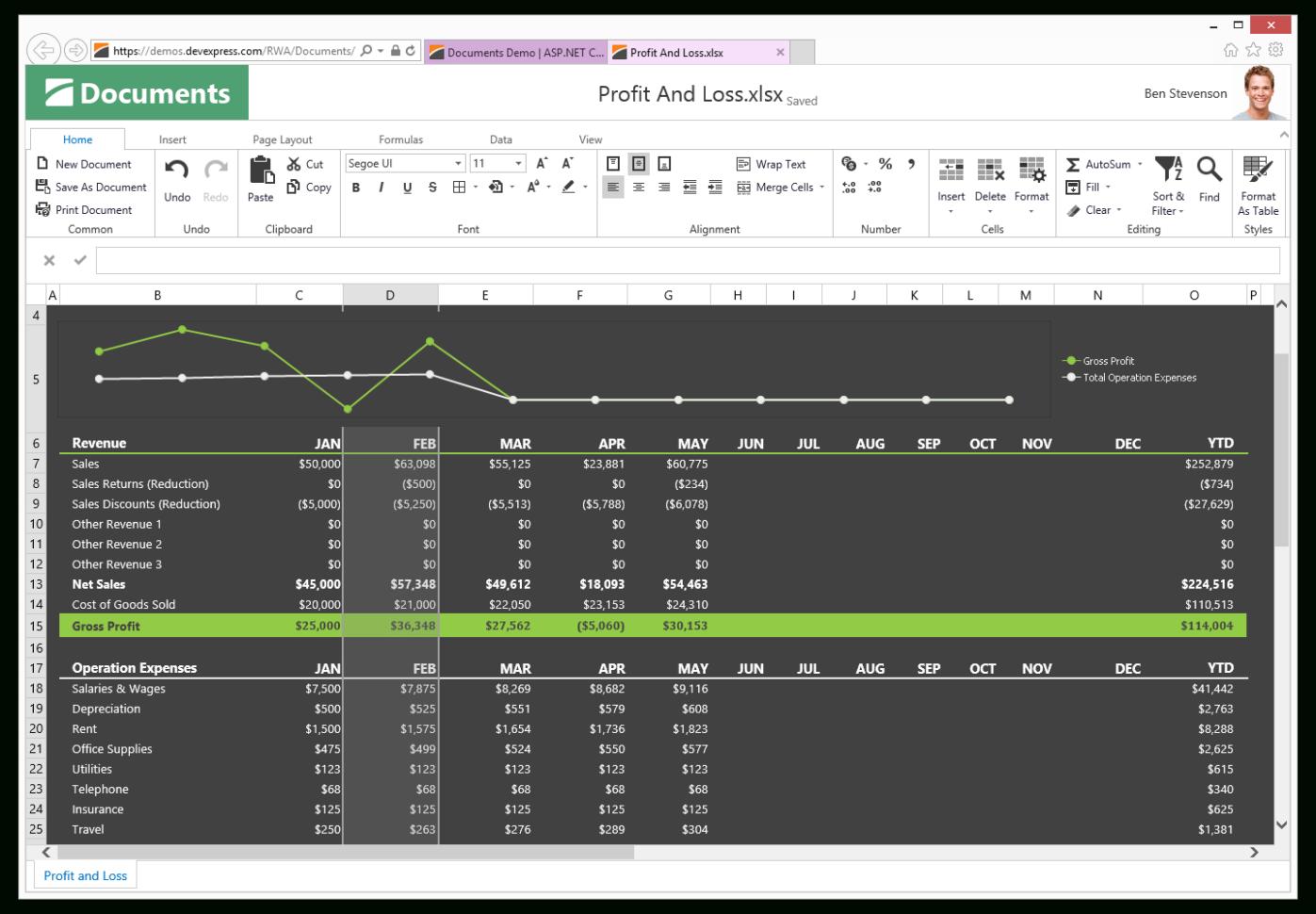 Asp Net Spreadsheet Control Regarding Asp Spreadsheet  Excel Inspired Spreadsheet Control  Devexpress
