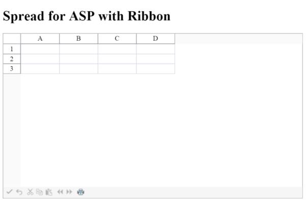 Asp Net Spreadsheet Control With Adding A Ribbon To Spreadasp
