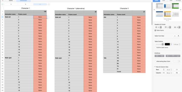 Asset Spreadsheet Pertaining To Useful Adventure Game Resources: Asset Spreadsheet  Simon's Sanitarium