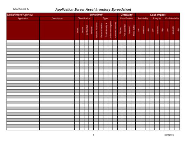 Asset Spreadsheet Template For Asset Tracking Spreadsheet And Inventory Spreadsheet Template Excel
