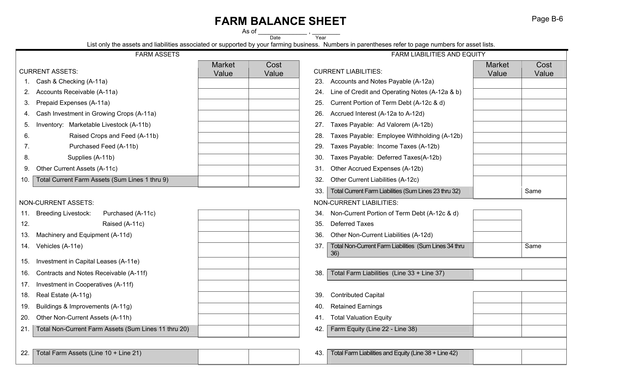 Assets And Liabilities Spreadsheet Template Within Download Farm Balance Sheet Template  Excel  Pdf  Rtf  Word
