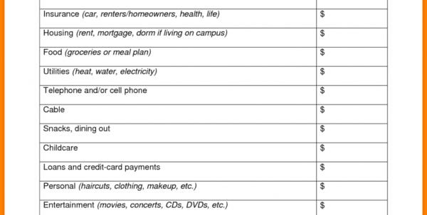 Assisted Living Budget Spreadsheet Inside Living Budget Spreadsheet Expenses Cost Ofksheet Assisted