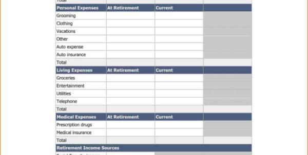 Assisted Living Budget Spreadsheet Regarding Retirement Planning Worksheet Excel Sample Worksheets Income Free