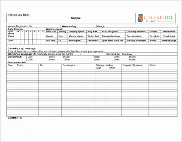 Ato Vehicle Log Book Spreadsheet With Download Now 16 Log Book Template  Generate Better One  Top