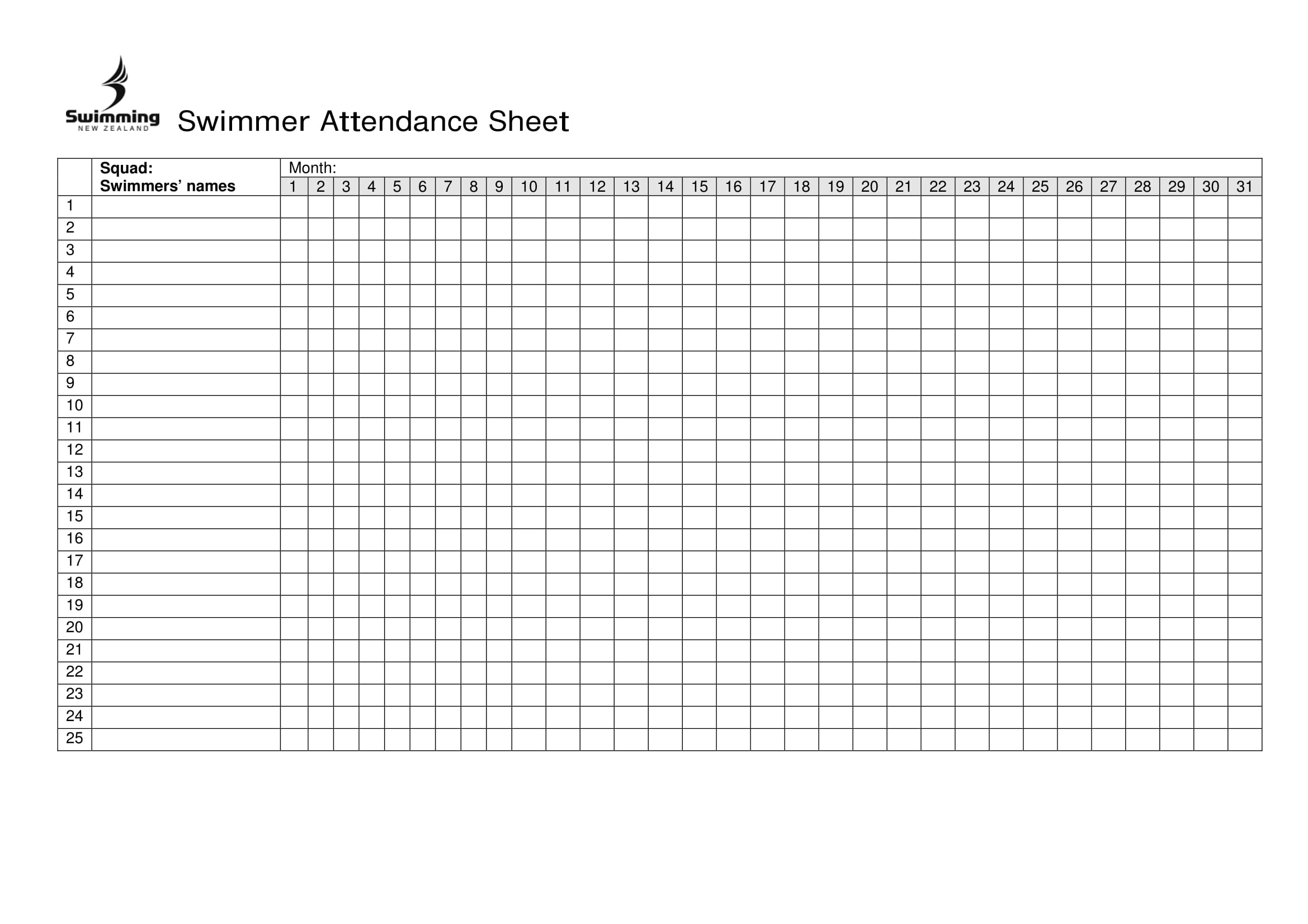 Attendance Spreadsheet Regarding 10  Printable Attendance Sheet Examples  Pdf, Word