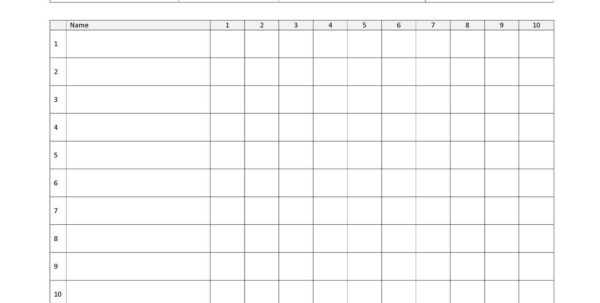 Attendance Spreadsheet With Regard To 25  Printable Attendance Sheet Templates [Excel / Word]  Utemplates