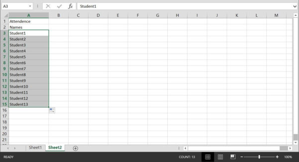 Attendance Spreadsheet Within How To Create A Basic Attendance Sheet In Excel « Microsoft Office