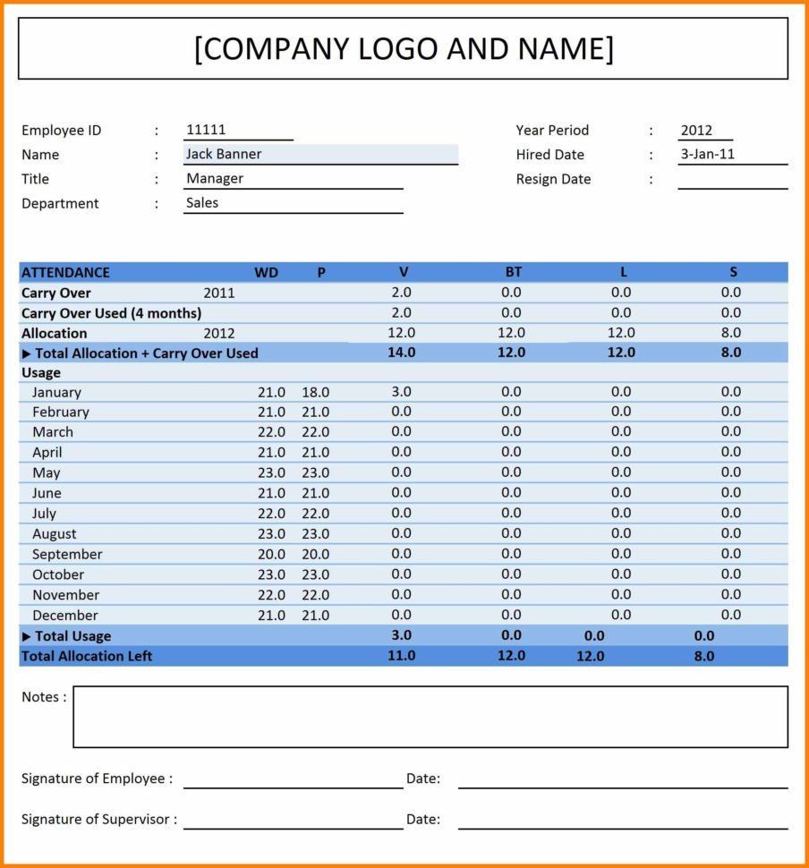 Attendance Tracking Spreadsheet Pertaining To 5  Employee Attendance Tracking Spreadsheet  Credit Spreadsheet