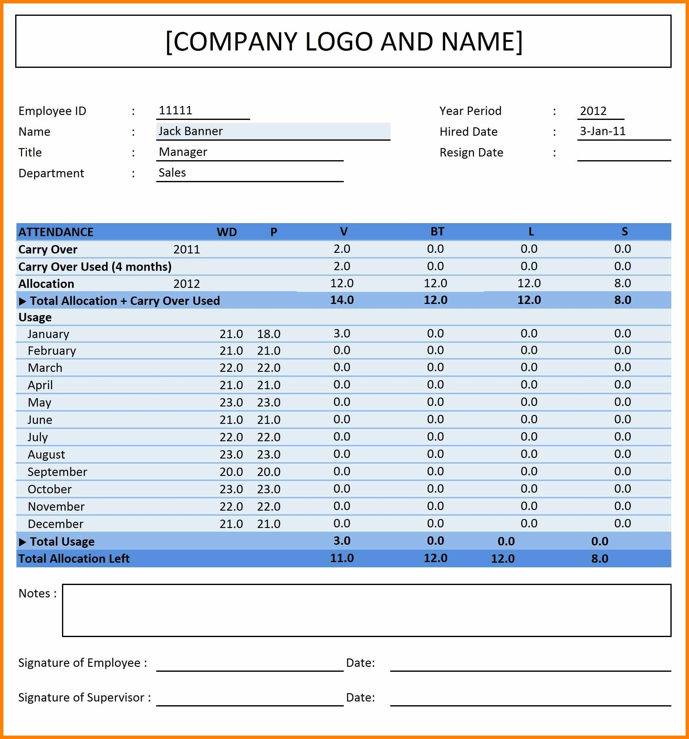 Attendance Tracking Spreadsheet pertaining to 5+ Employee Attendance Tracking Spreadsheet  Credit Spreadsheet