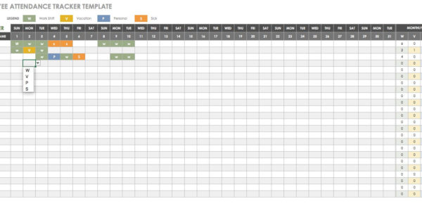 Attendance Tracking Spreadsheet Template For Free Human Resources Templates In Excel