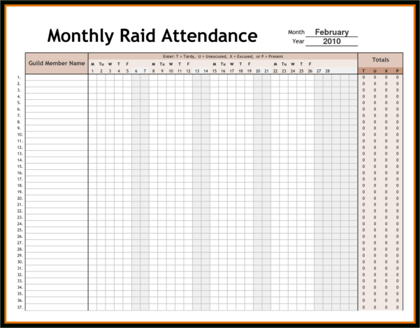 Attendance Tracking Spreadsheet With Regard To Employee Time Tracking Spreadsheet And Attendance Tracking Archives