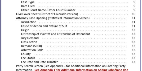 Attorney Case Management Spreadsheet Pertaining To Case Management Electronic Case Files  Pdf