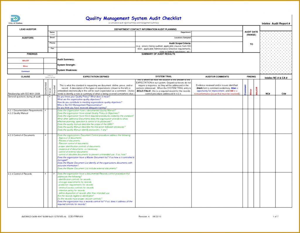 Audit Spreadsheet Regarding Compliance Audit Report Sample Legal Format Statutory Example Social