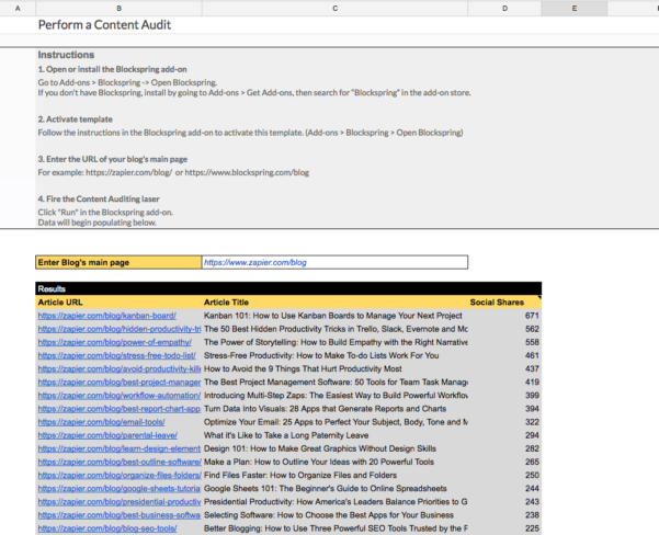 Audit Spreadsheet With Regard To Perform A Content Audit  Spreadsheet Template In Google Sheets