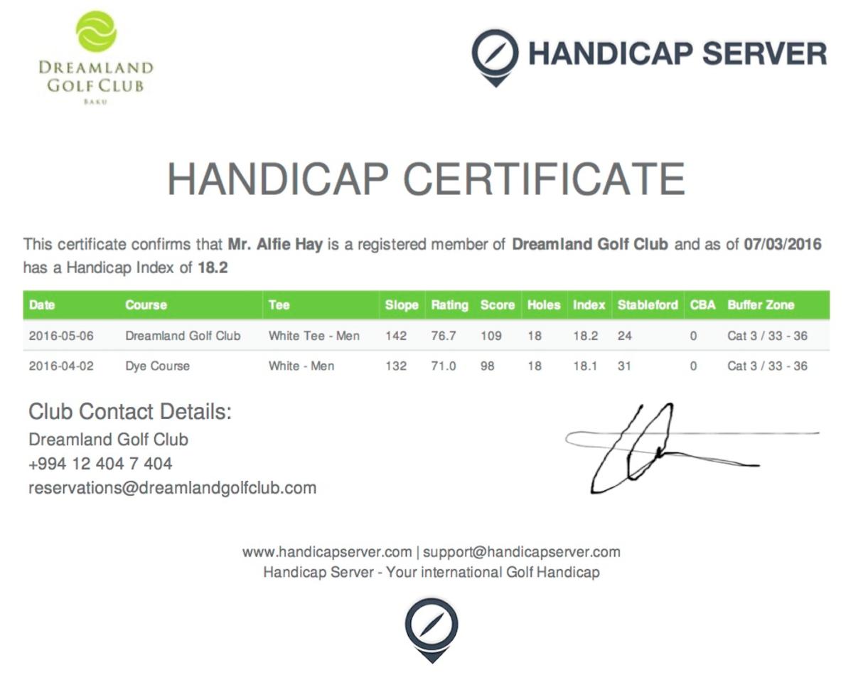 Australian Golf Handicap Calculator Spreadsheet In Handicap Server