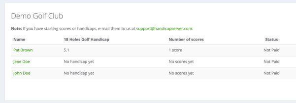 Australian Golf Handicap Calculator Spreadsheet Regarding Handicap Server