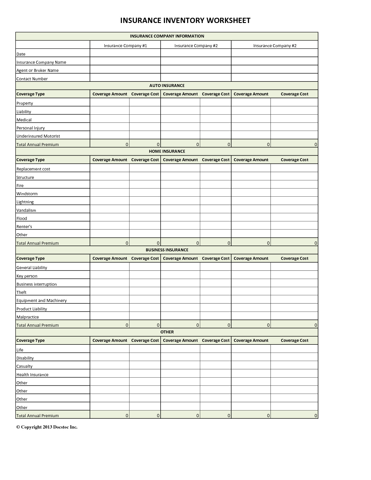 Auto Insurance Comparison Spreadsheet Within Health Insurance Comparison Spreadsheet  My Spreadsheet Templates