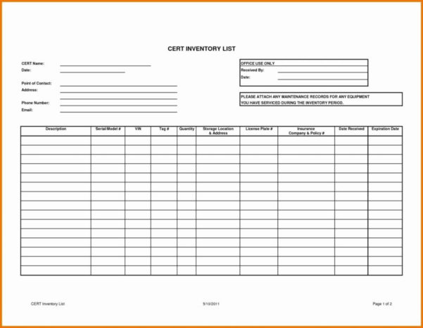 Auto Parts Inventory Spreadsheet With Inventory List Spreadsheet Bar Computer Excel Home Template