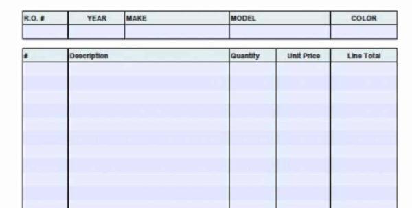 Auto Restoration Spreadsheet In Water Damage Restoration Invoice Sample Auto Repair Receipt Template