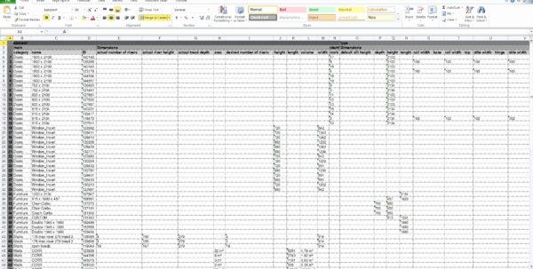 auto restoration spreadsheet