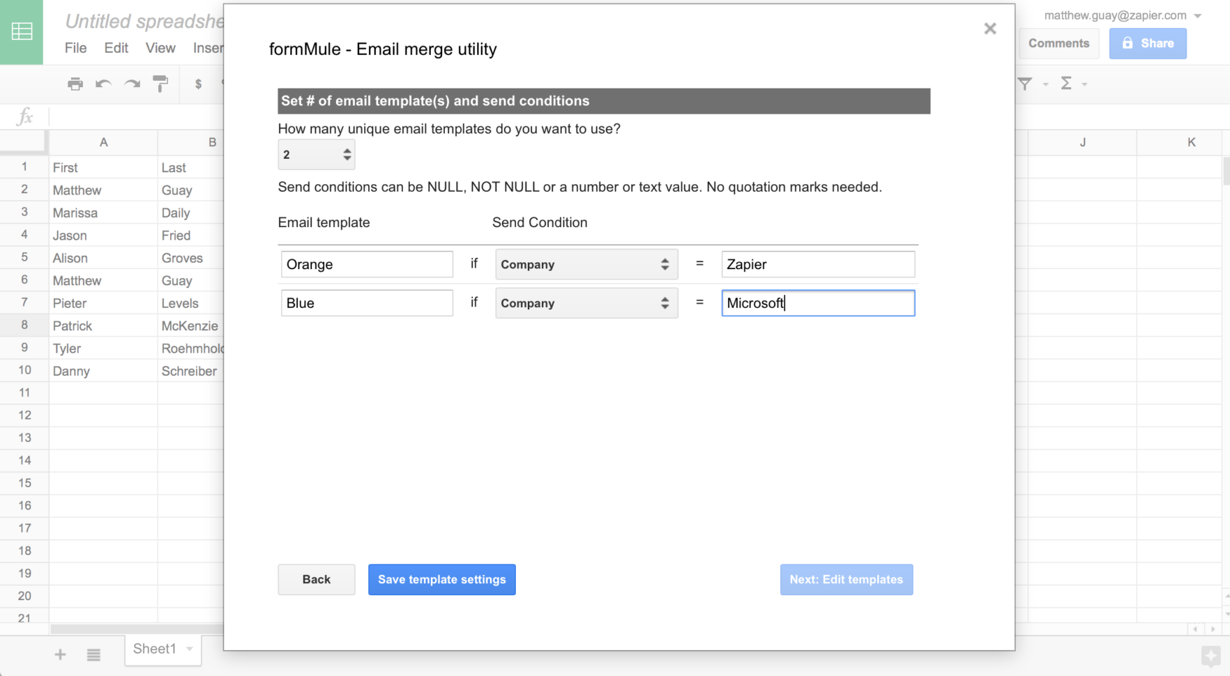 Automated Email Google Spreadsheet Regarding 50 Google Sheets Addons To Supercharge Your Spreadsheets  The