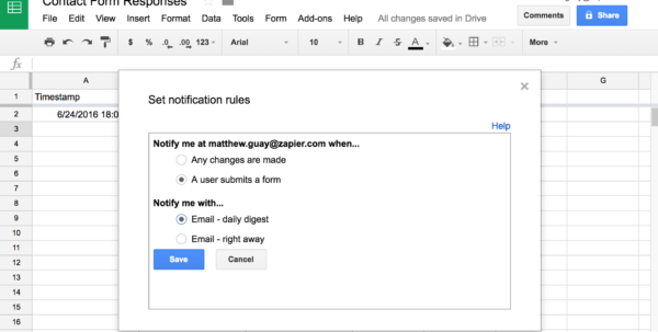 Automated Email Google Spreadsheet With Regard To Google Forms Guide: Everything You Need To Make Great Forms For Free