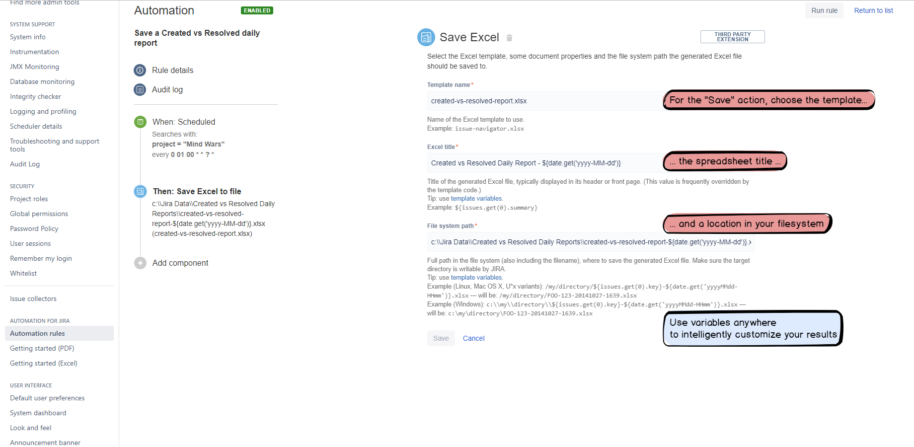 Automated Excel Spreadsheet Inside Better Excel Automation For Jira  Atlassian Marketplace