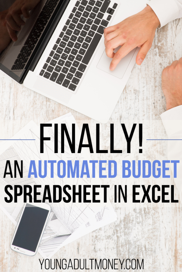 Automated Excel Spreadsheet Within An Automated Budget Spreadsheet In Excel  Young Adult Money