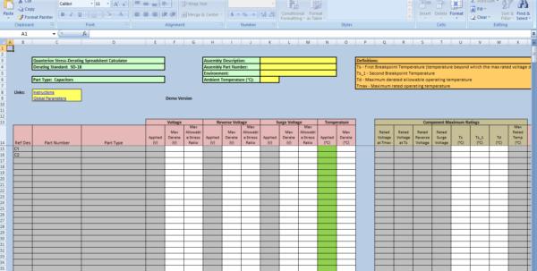 Availability Calculator Spreadsheet With Stressderating Spreadsheet Calculator – Quanterion Solutions Availability Calculator Spreadsheet Google Spreadsheet
