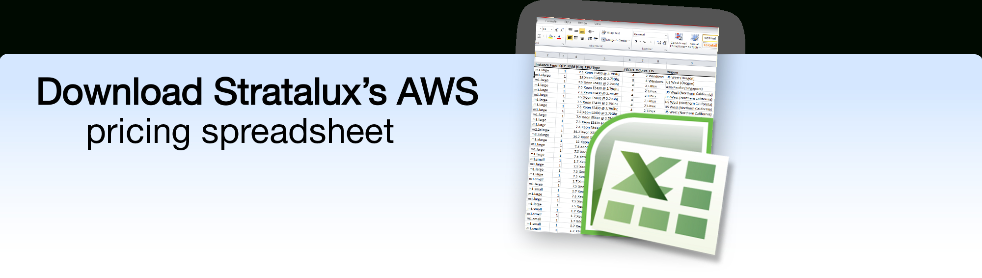 Aws Pricing Spreadsheet With Regard To Stratalux Releases Free Aws Pricing Tool  Stratalux, Inc.