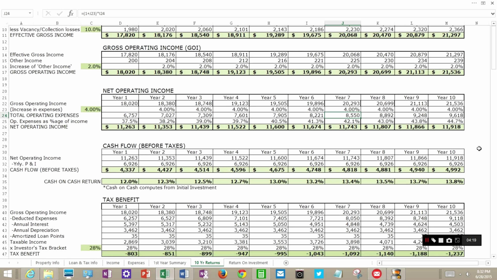Awwa M22 Spreadsheet Regarding March, 2017 Archive Page 2 Investment Property Calculator Excel