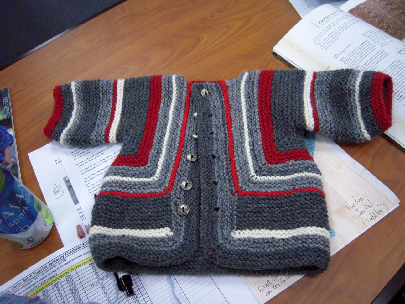 Baby Surprise Jacket Spreadsheet In January 2015 Elizabeth Zimmerman Patterns  Creativeknittersguild