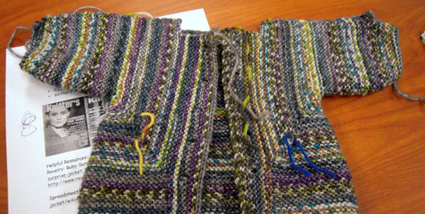 Baby Surprise Jacket Spreadsheet With Regard To January 2015 Elizabeth Zimmerman Patterns  Creativeknittersguild