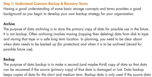 Backup Tape Rotation Spreadsheet In A Short Guide To Successful Data Backup. The Essentials Of