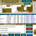 Baking Cost Calculator Spreadsheet For Food Cost Calculator Spreadsheet On Google Spreadsheets How To