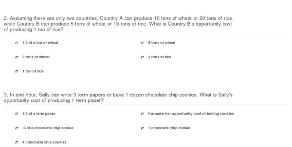 Baking Cost Calculator Spreadsheet Inside Quiz  Worksheet  Calculating Opportunity Cost  Study