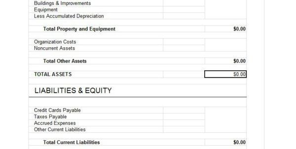 Balance Sheet Spreadsheet Template For 38 Free Balance Sheet Templates  Examples  Template Lab