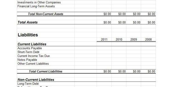 Balance Sheet Spreadsheet Template With Regard To 38 Free Balance Sheet Templates  Examples  Template Lab