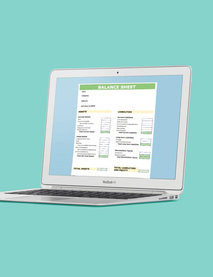 Balance Sheet Spreadsheet Template With Regard To Balance Sheet Template