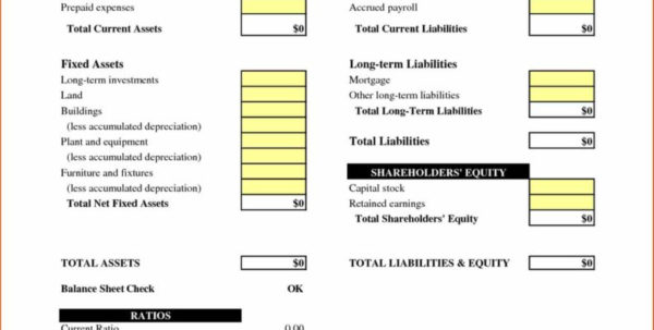 Balance Spreadsheet For Small Business Accounting Spreadsheet Template And Balance Sheet