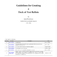 Ballot Counting Spreadsheet Pertaining To Pdf Guidelines For Creating A Deck Of Test Ballots