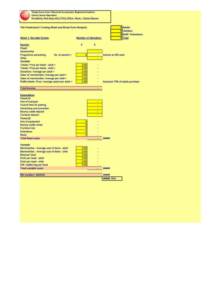 Bank Deposit Analysis Spreadsheet Pertaining To 41 Free Break Even Analysis Templates  Excel Spreadsheets